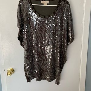 Sequined Camo Tunic
